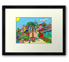 Gnomes Reminiscing Framed Print