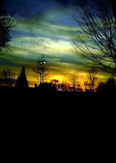 Winter evening sky © by Dawn M. Becker
