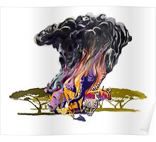 OUT OF AFRICA surreal digital art painting Poster