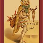 Vintage Market Day Clown Greetings by Yesteryears