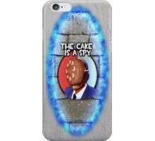 The Cake Is... A Spy?!? iPhone Case/Skin