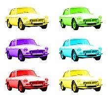 MGB GT Sports Cars by Anthony  Poynton