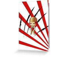 Chibi Lady Deathstryke Greeting Card