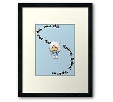 Chibi Spiral Framed Print