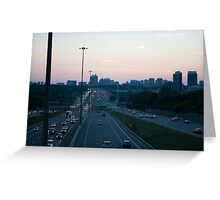 Highway 401 West of Don Mills (#398) Greeting Card
