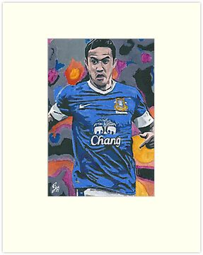 Tim Cahill Small Canvas Painting by chrisjh2210