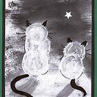 Two Kitties by Ginger Lovellette