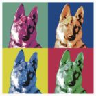German Shepherd Pop Art by Chunga