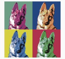 German Shepherd Pop Art T-Shirt
