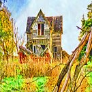 Old House Painted iPad Case by ipadjohn