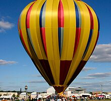 Beautiful Yellow and Pastel Balloon by Gene Walls