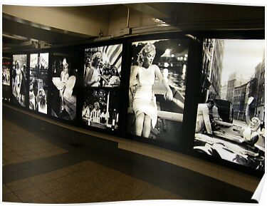 """Marilyn in New York"", Sam Shaw Photographer, Photography Exhibit in New York Subway, New York City by lenspiro"