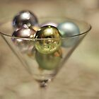 Baubles in a glass by Karen E Camilleri