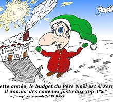 Caricature du Père Noël et le Top 1 pour cent by Binary-Options