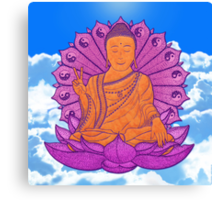 peace buddha in the sky Canvas Print