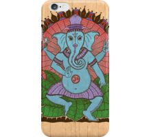 peace ganesh parchment iPhone Case/Skin