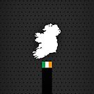 Irland Flag and Map - Black Stripe on Dark gray by UltraCases