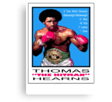 "BOXING LEGENDS: THOMAS ""THE HITMAN"" HEARNS Canvas Print"
