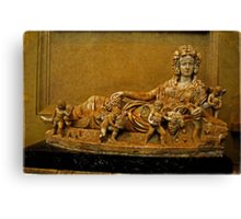 Personification of Autumn, Sarcophagus Canvas Print