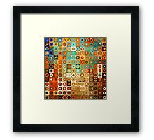 Circles and Squares 1. Modern Geometric Art Framed Print