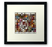 Circles and Squares 3. Modern Geometric Art Framed Print