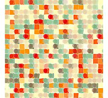 Circles and Squares 12. Modern Geometric Art Photographic Print