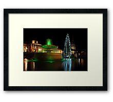 Christmas Day. Trafalgar Square. Framed Print