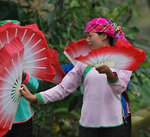 Dancers in village near Sapa by Julie Sherlock