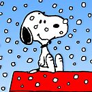 Snoopy Loves Snow by gleviosa