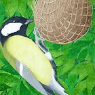 The Great Tit by Véronique Cole by aquartistic