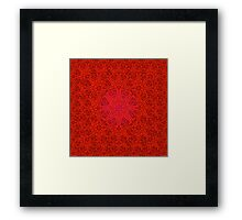 rashim red lace mandala Framed Print