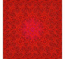 rashim red lace mandala Photographic Print