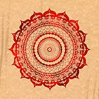omulyana red mandala by peter barreda
