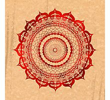 omulyana red mandala Photographic Print