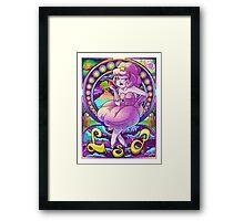 Lumpy Space Princess Nouveau Framed Print