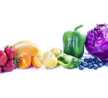 Rainbow of Fruit by DeborahKolb