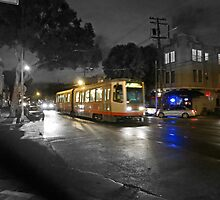 Muni in the Rain by David Denny
