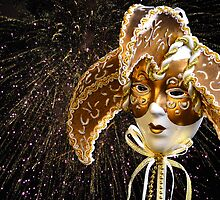 Golden Venetian Mask by 7horses