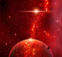 Fiery Planet by charmedy
