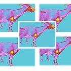 Negative Neon Goat Chex by Liesl Gaesser