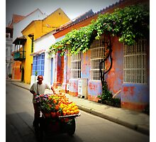 Wheeling the streets Photographic Print