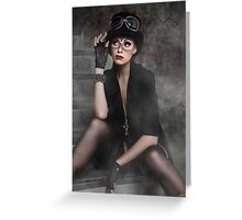 Steampunk Maiden Greeting Card