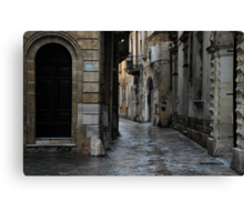 Streetscape in Baroque Canvas Print