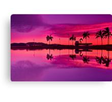 """Tropical Pastel Morn"" Canvas Print"