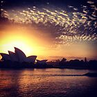 Sunrise over Sydney Opera House, Australia by mensoart