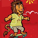 skateboarding Lion by martyee