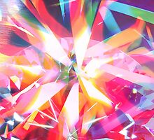 Psychedelic colorful Daimond rays  by mikath