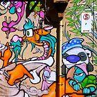 Melbourne Graffiti Street Art Panda and Friends by NicNik Designs
