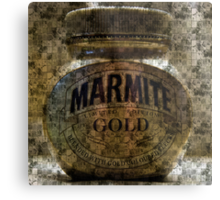 Marmite Gold with Tiles Metal Print