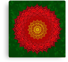 okshirahm rose mandala Canvas Print